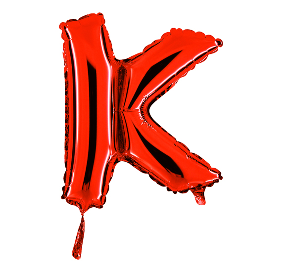 Metallic balloons for parties globinter letter k thecheapjerseys Choice Image